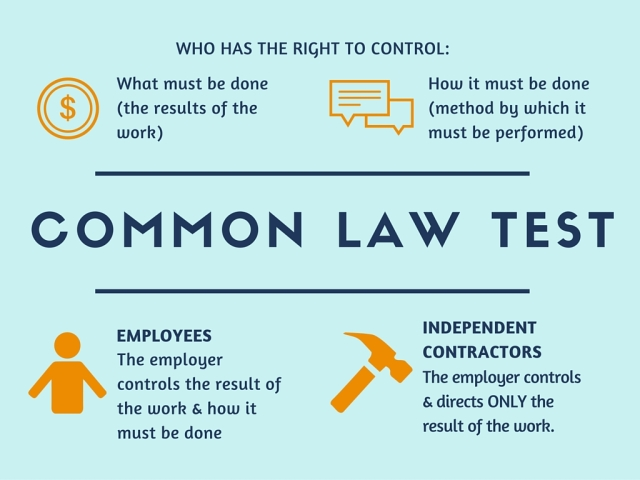 Common law test